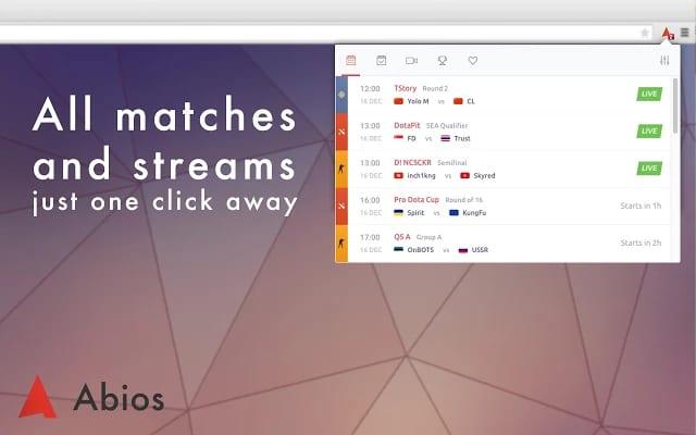 Abios Match Ticker Extension