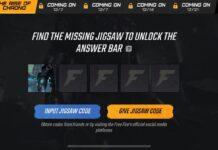free fire jigsaw codes