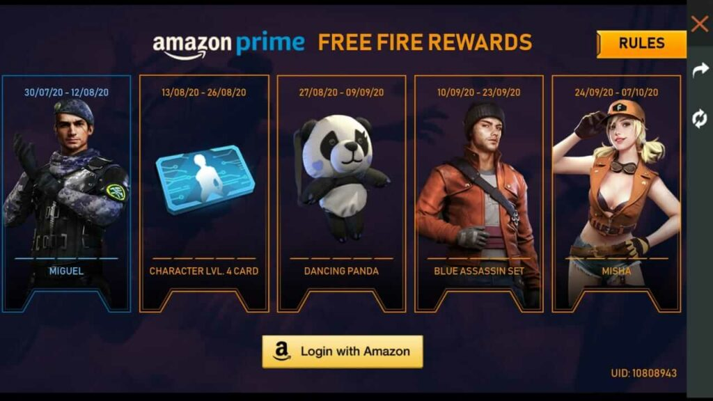 Free Fire How To Get Free Items In Free Fire S Amazon Prime Collection