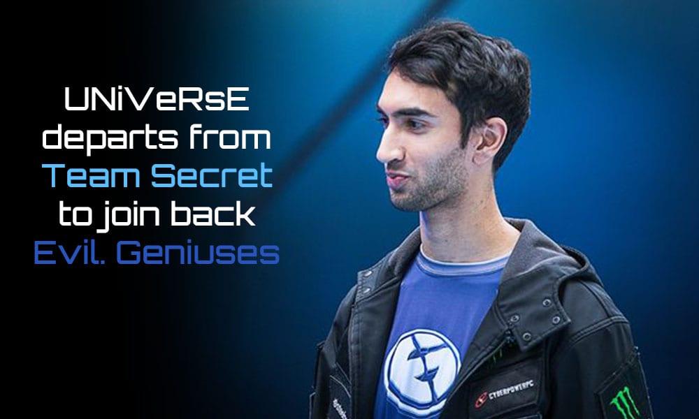 Universe Leaves Team Secret
