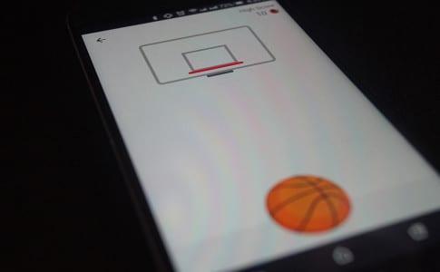 Facebook Basketball game