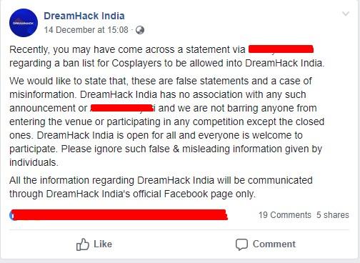 DreamHack Mumbai; A dream which couldn't come true